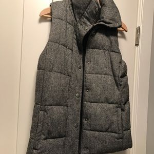 Old Navy Wool Tweed Tall Vest